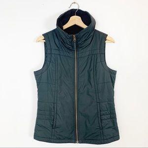 COLUMBIA Black Puffy Vest Lightweight Zip Up M